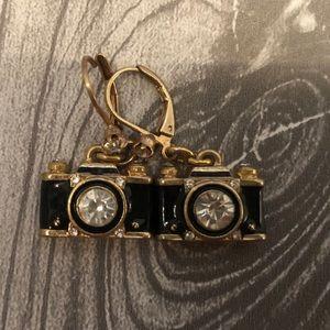 Betsy Johnson Camera Earrings